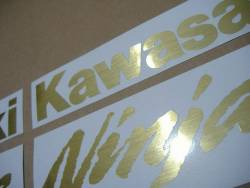 Kawasaki ZX6R brushed gold customized logo decals