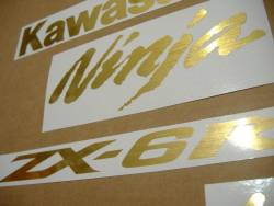 Kawasaki ZX6R Ninja brushed gold custom graphics