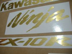 Kawasaki ZX10R Ninja brushed gold custom graphics