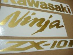 Kawasaki ZX-10R Ninja brushed gold decals kit