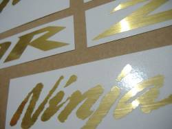 Kawasaki ZX10R brushed gold customized logo decals