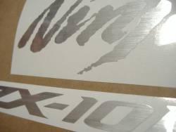 Kawasaki ZX10R Ninja brushed silver grey stickers