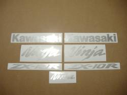 Kawasaki ZX10R Ninja brushed aluminium graphics