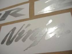 Kawasaki ZX10R brushed aluminium emblems decal set