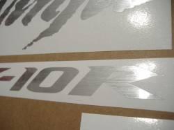 Kawasaki ZX10R Ninja brushed silver custom graphics