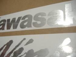 Kawasaki ZX10R Ninja brushed lined grey stickers