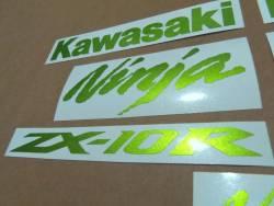Kawasaki ZX10R Ninja metallic green custom graphics