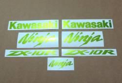Kawasaki ZX10R metallic pearl green decal set
