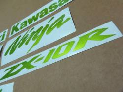 Kawasaki ZX-10R Ninja metallic green decals kit