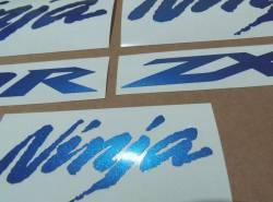 Kawasaki ZX10R Ninja metallic blue custom graphics