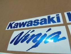 Kawasaki ZX10R Ninja metallic blue custom stickers