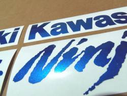 Kawasaki ZX10R metallic blue logos decals