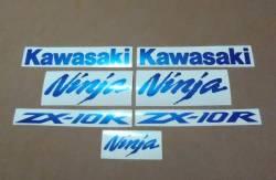 Kawasaki ZX-10R Ninja metallic blue decals kit
