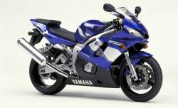 Yamaha R6 2001 RJ03 5EB blue stickers set
