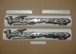 Honda Varadero 2000 black stickers kit
