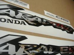 Honda Varadero XL 1000V 2000 red labels decals