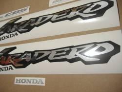 Honda Varadero XL1000V 2000 red graphics kit