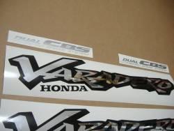 Honda XL 1000V 2000 Varadero red decals kit