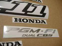 Honda X11 X-Eleven 1999 red decals kit