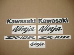 Kawasaki ZX10R matte black logo adhesives