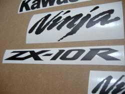 Kawasaki ZX-10R Ninja matte black stickers kit