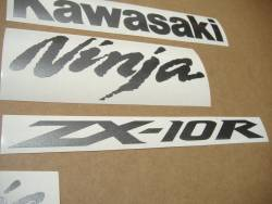 Kawasaki ZX-10R Ninja dark gray decals set