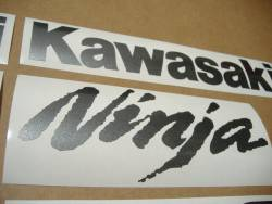 Kawasaki ZX-10R Ninja dark gray stickers emblems