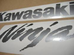 Kawasaki ZX-10R Ninja dark gray logo graphics