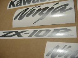 Kawasaki ZX10R Ninja graphite grey stickers kit