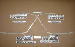 Honda VFR 750 RC24 1988 blue decals set
