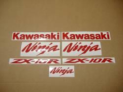 Kawasaki ZX10R 1000 medium red decals set