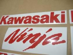 Kawasaki ZX-10R Ninja red stickers emblems