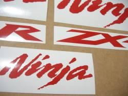 Kawasaki ZX-10R Ninja medium red decals set