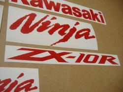 Kawasaki ZX10R 1000 medium red logo graphics