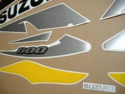 Suzuki GSX-R 600 2002 yellow decals set