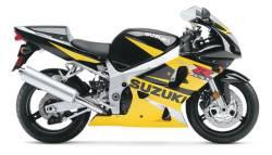 Suzuki GSX-R 600 2002 K3 yellow stickers set