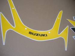 Suzuki gsx-r 600 2002 yellow labels graphics kit