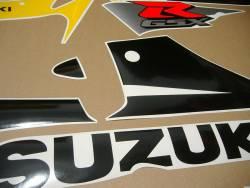 Suzuki GSXR 600 2002 2003 yellow stickers kit