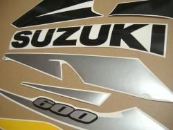 Suzuki GSXR 600 2002 K3 yellow decal set