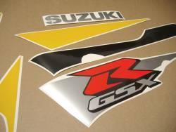 Suzuki GSXR 600 2002 yellow graphics kit