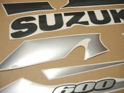 Suzuki gsx-r 600 2002 yellow black decals