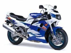 Suzuki GSX-R 1100 1995 white blue stickers kit