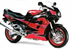 Suzuki GSX-R 1100 1995 red black decal kit