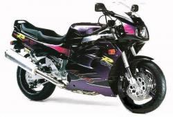 Suzuki GSX-R 1100 1994 1995 black purple stickers