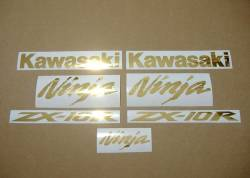 Kawasaki ZX10R 1000 Ninja chrome gold stickers kit