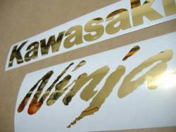 Kawasaki ZX10R 1000 Ninja chrome gold decals set