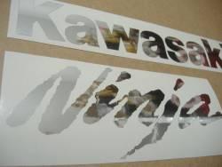 Kawasaki ZX-10R Ninja chrome silver decals set