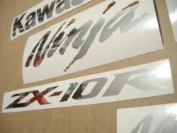 Kawasaki ZX10R 1000 Ninja chrome logo emblems