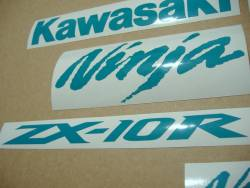 Kawasaki ZX-10R Ninja blue-green decals set