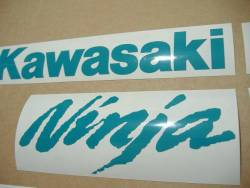 Kawasaki ZX10R 1000 opal green stickers kit